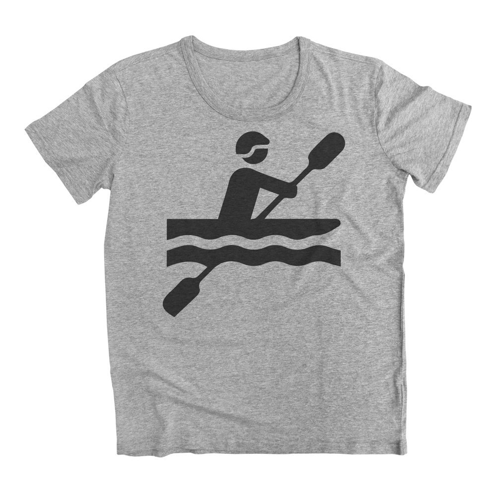 graphke Rowing Though The River Mens T-Shirt
