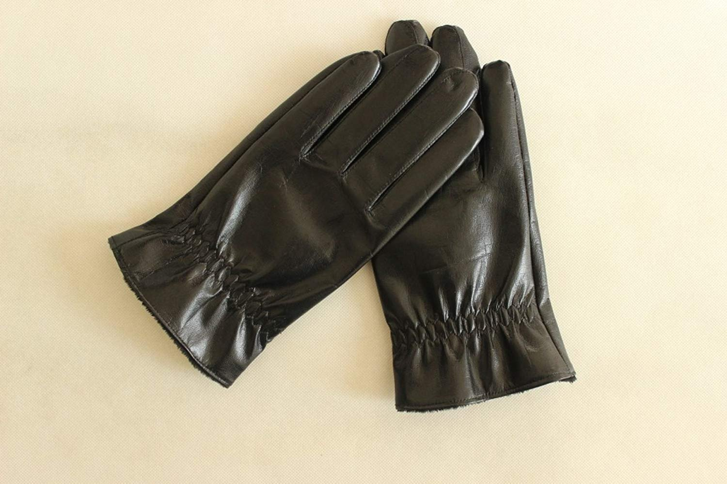 CWJ Men's Gloves Thick Drive Car Ride Warm,Black,One Size by CWJ (Image #2)