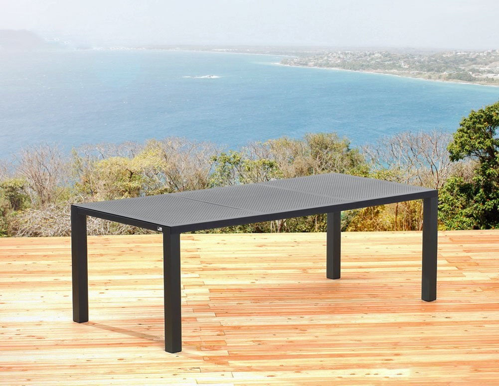 sun garden gartentisch 160 x 100 cm tisch aus aluminium in. Black Bedroom Furniture Sets. Home Design Ideas
