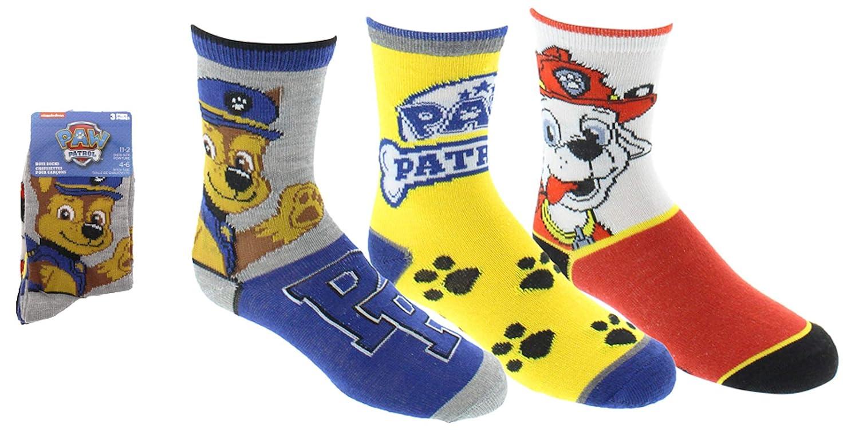 Paw Patrol Boys Sport Socks 3 Pairs Size 4-6 Gertex