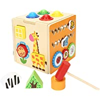 Amagoing Multi-functional Intelligence Box Wooden Assembling Blocks Children's Early Educational Toys