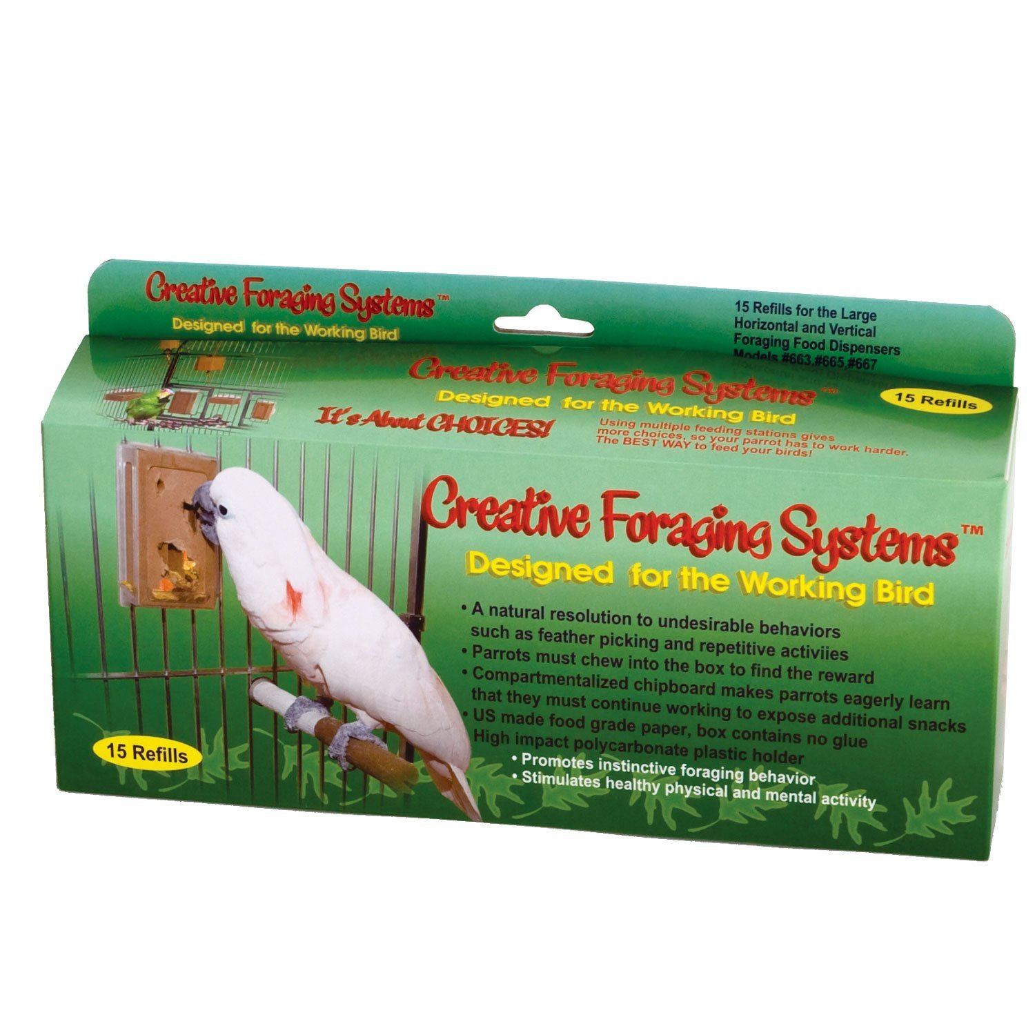 Caitec- Bird Toys 020-00661 Caitec Foraging System Large Refill 15 Day Supply