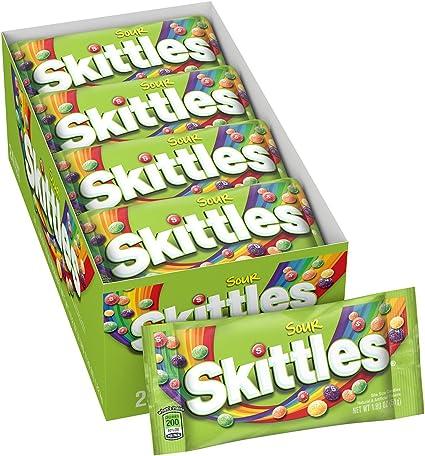Amazon.com: Skittles caramelo agrio (paquete de 2 (24 ...