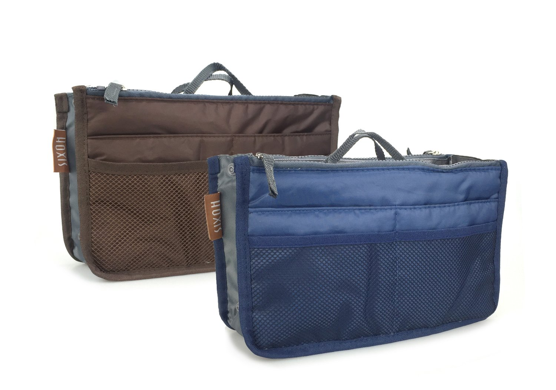 Hoxis Multifunction Travel Insert Handbag Organiser Purse Large Liner Organizer 2 piece(CN)