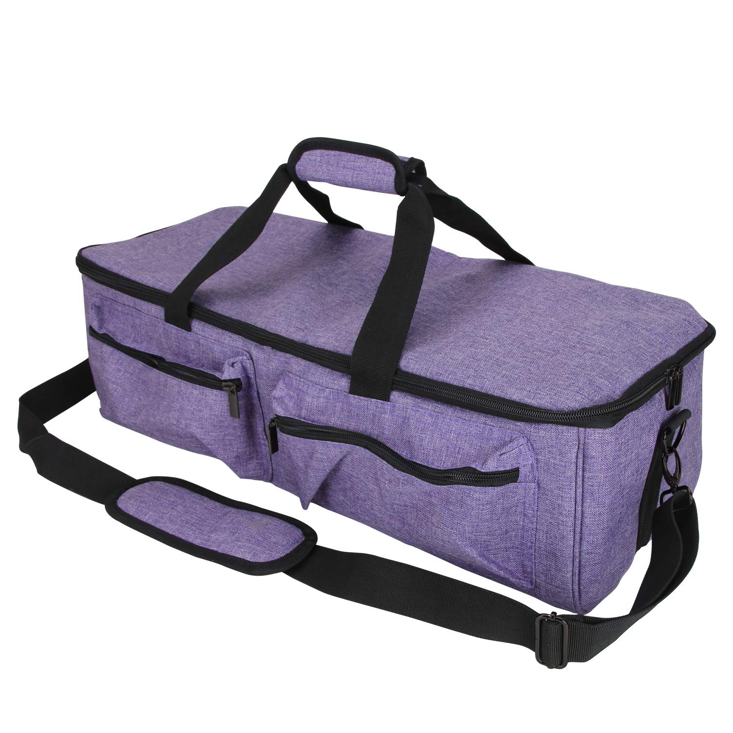 Curmio Carrying Case Compatible with Cricut Explore Air, Air 2 and Maker, Tote Bag Compatible with Cricut Explore Air and Supplies, Purple, No Accessories Included