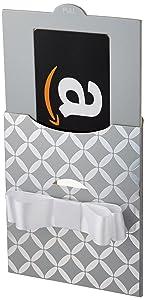 Amazon.com Gift Card in a Silver Reveal (Classic Black Card Design)