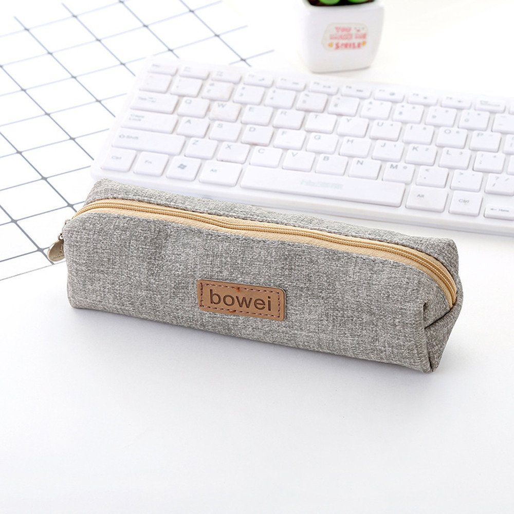 Childrens Pencil Pouch Simple Canvas Stationery Bag Large ...