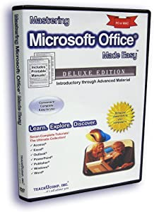 Mastering Microsoft Office Made Easy Training Tutorial for v. 2003 through 97 - How to use MS Office Video e Book Manual Guide. Even dummies can learn Access, Excel, Outlook, PowerPoint, Publisher, Windows & Word from Professor Joe