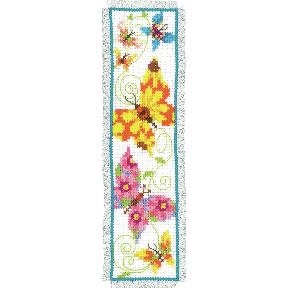 Vervaco PN-0021728 Butterflies 2 Bookmark Counted Cross Stitch Kit