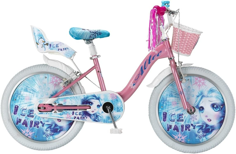 Bicicleta Infantil Niña Altec Ice Fairy 20 Pulgadas Freno Delantero al Manillar y Trasero Contropedal Cesta y Porta Muñecas Rosa Azul 85% Montada: Amazon.es: Deportes y aire libre