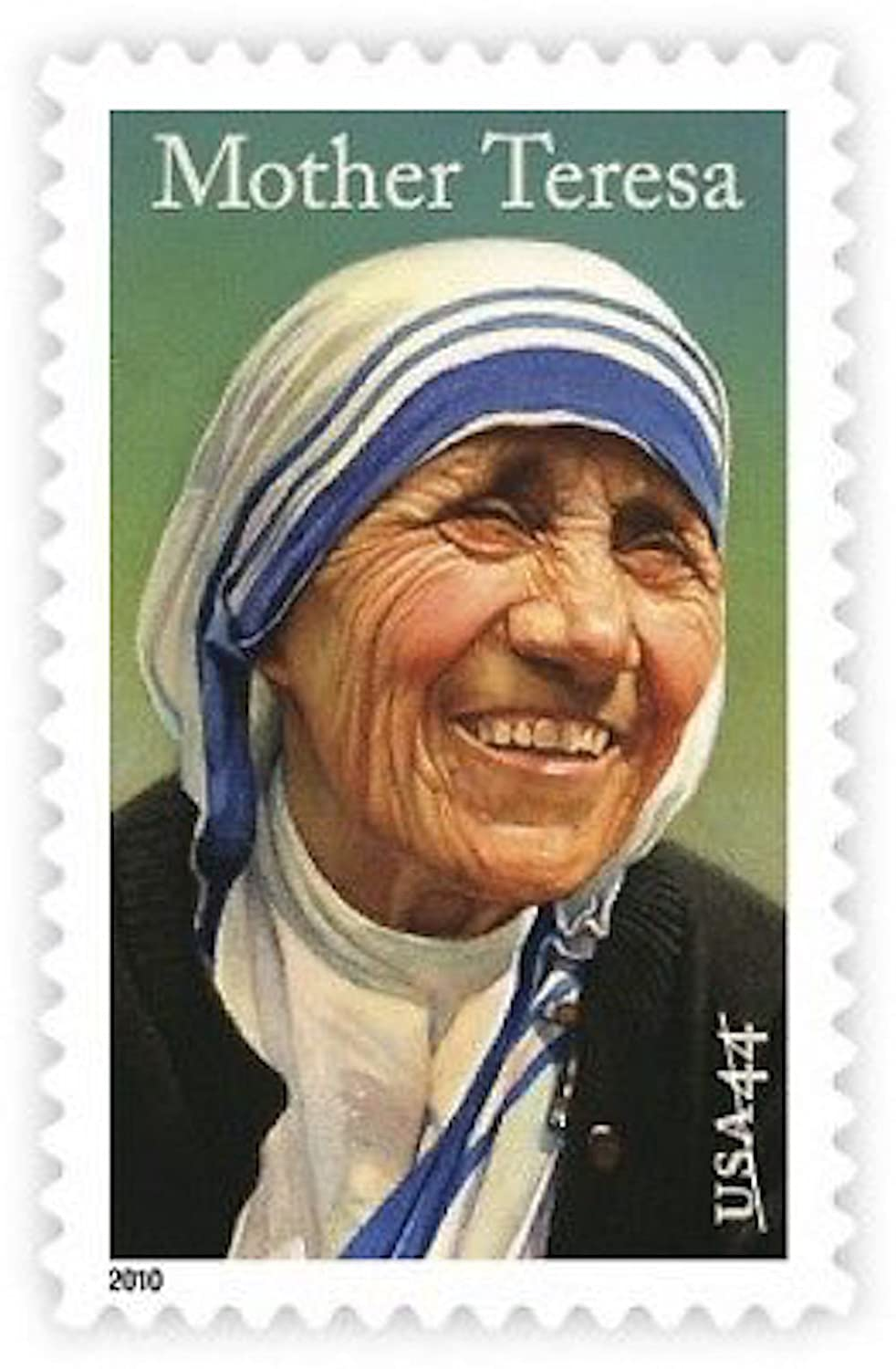 Mother Teresa, Full Sheet Sheet Sheet of 20 x 44-Cent Postage Stamps, USA 2010, Scott 4475 by USPS 25c2c1