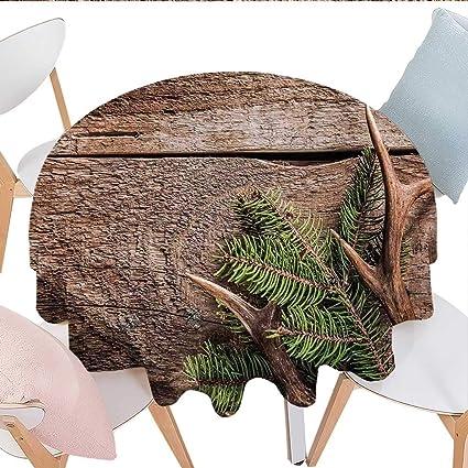 Amazon.com: longbuyer Antlers Decor Oval Tablecloth ...