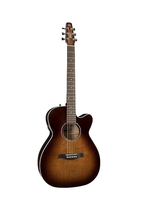 Gaviota 041824 Performer Cutaway Concierto Hall qit Burnt Umber acústica guitarra eléctrica