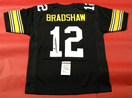 san francisco 7573a ee563 TERRY BRADSHAW AUTOGRAPHED PITTSBURGH STEELERS B JERSEY JSA ...