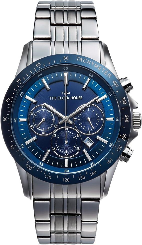 [ザ・クロックハウス] ビジネス カジュアル ソーラー 充電 腕時計 おしゃれ MBC1003-BL1A メンズ ブルー