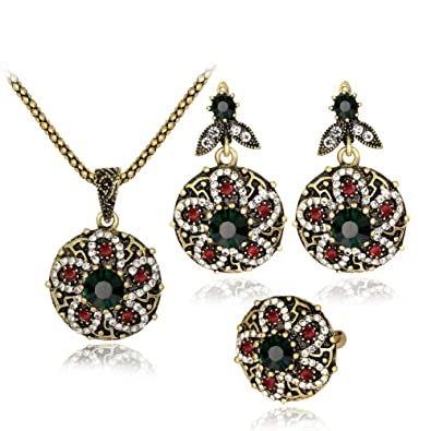 Jewelry & Watches Necklace Earrings Bridal & Wedding Party Jewelry Flower & Pear Drop Crystal Silver Bridal Jewelry Set