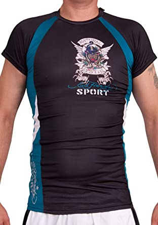 ee702c9f54 Ed Hardy Men s Sport Athletic Mesh Crew Tee Top at Amazon Men s ...