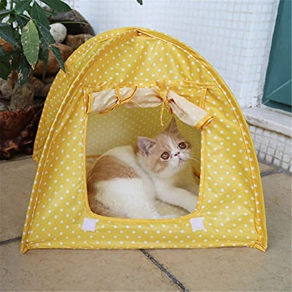 VIDOO Carpa Plegable del Animal Doméstico Gato Jugando Cama Casa Kitty Campo Impermeable Exterior Perro Kennel