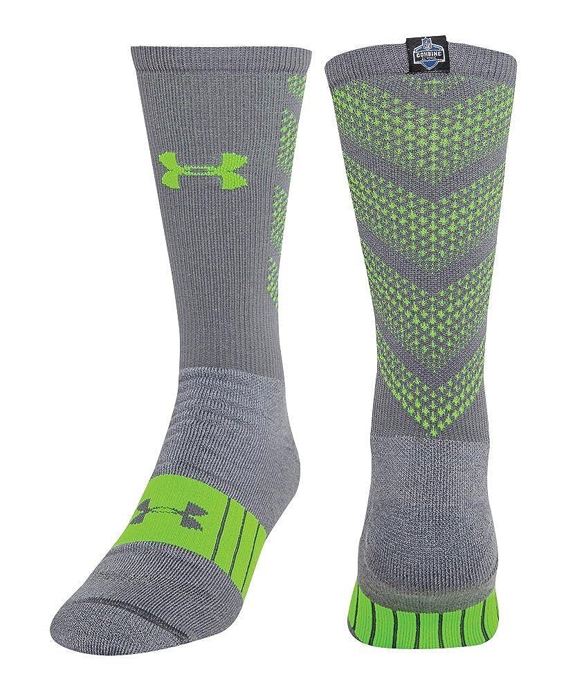 Under Armour Mens NFL Combine Authentic Socks Medium Graphite