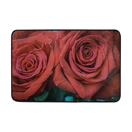 Amazon Com Rh Studio Carpet Rose Petals Bud Red Doormat Indoor