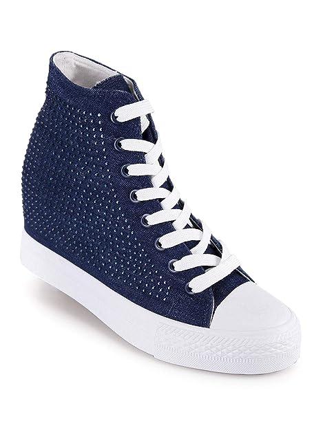 Original Marines - Zapatillas de Tela para Mujer Azul Size: 39 EU: Amazon.es: Zapatos y complementos