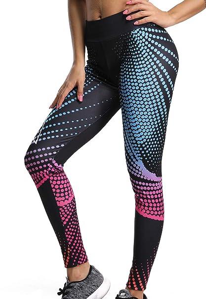 FITTOO Legging de Sport Femme Yoga Pants Imprimée Pantalon ...