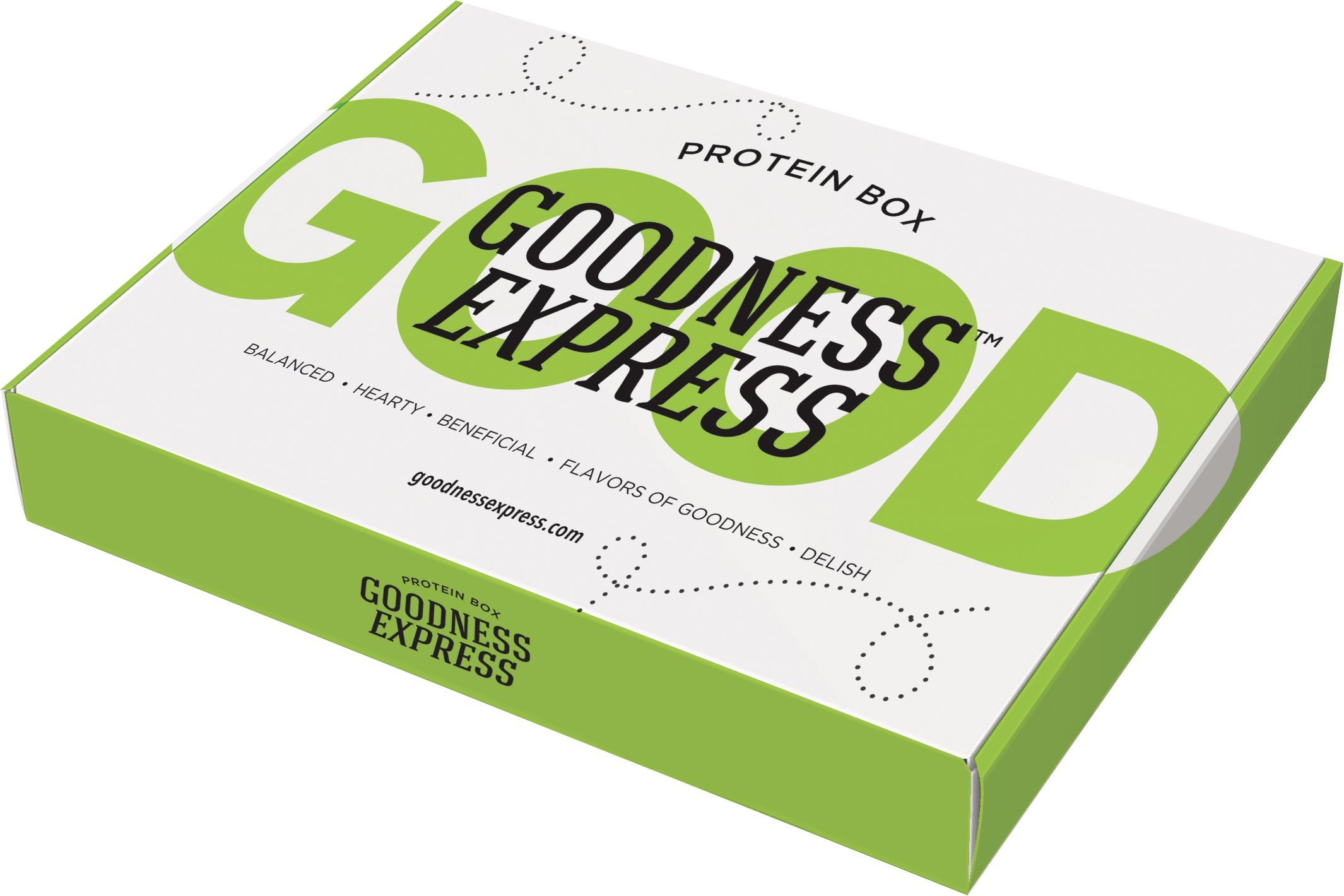 Goodness Express Variety Protein Box (Assortment of 11 Bars and Snacks High in Protein)