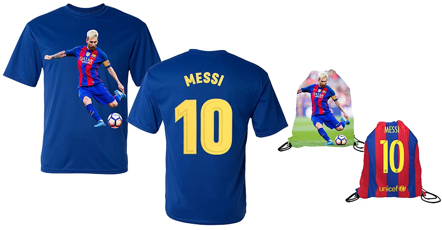 0a64cb33511 Messi Jersey Style T-Shirt Kids Lionel Messi Jersey T-Shirt Gift Set Youth  Sizes ✓ Premium Quality ✓ Breathable Lightweight ✓ Soccer Backpack Gift ...