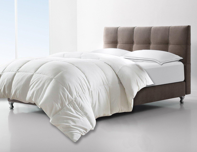 Clara Clark Down Alternative Comforter - All-Season Quilted Comforter/Duvet Insert - Hypoallergenic - Box Stitched - Twin/Twin-XL, White