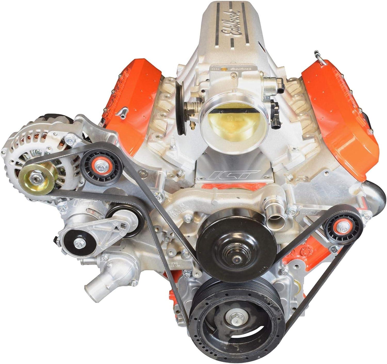 ICT Billet LS Idler Pulley Bracket Power Steering Eliminator G8 CTSV Corvette 1997-13 LS1 LS3 551776-1