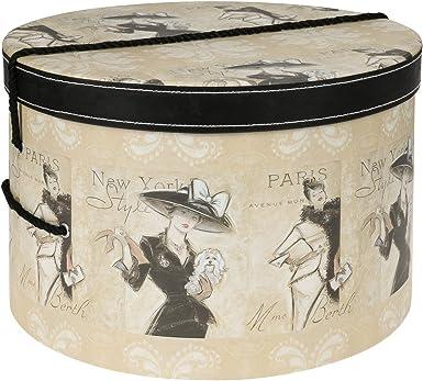 Lierys Caja Sombrero Madame 38 cm Mujer - sombrerera Verano/Invierno - Talla única Beige: Amazon.es: Ropa y accesorios
