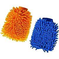 2 STKS Microfiber Car Wash Mitt, Auto Care Microvezel Drooghanddoek, Super Absorberende Microvezel Noodle Handschoenen…
