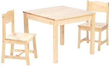 Tremendous Kidkraft Aspen Kids Table 2 Chair Set Natural Machost Co Dining Chair Design Ideas Machostcouk
