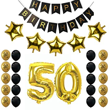 50th cumpleaños fiesta decoración juegos Happy Birthday ...