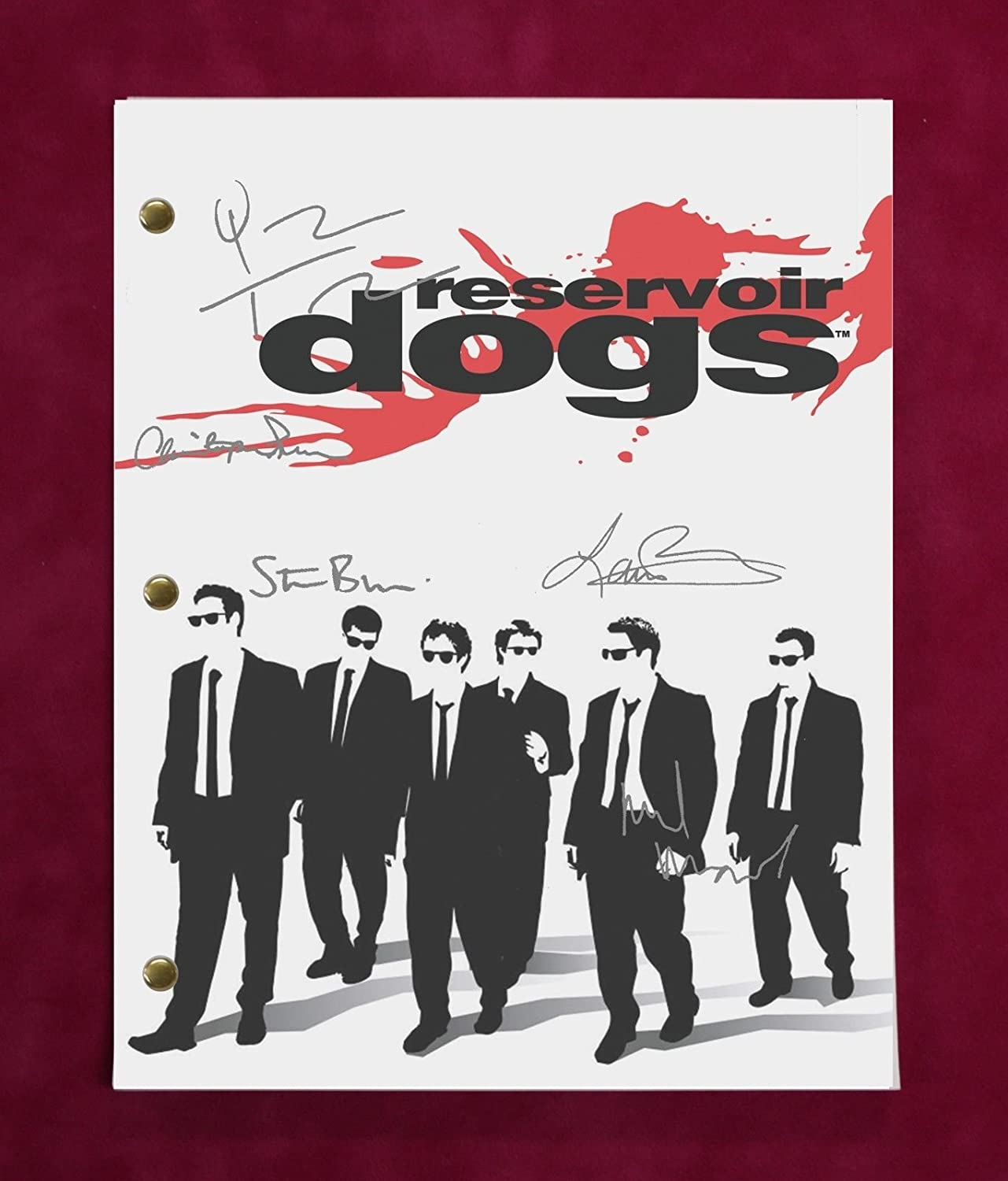 RESERVOIR DOGS SCRIPT WITH REPRODUCTION SIGNATURES Tarantino Madsen Roth C3