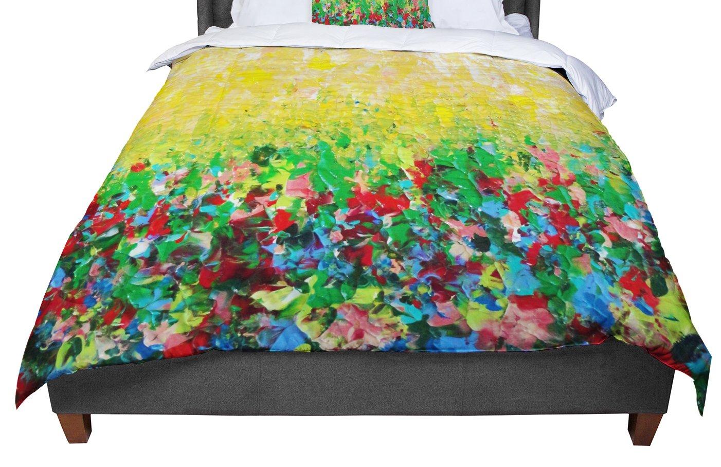 88 X 88 KESS InHouse Ebi Emporium Dotty in Pink Queen Comforter