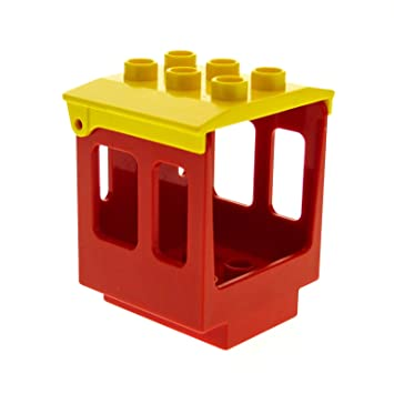 LEGO Duplo 1x Dach schwarz f Auto Kabine Fahrzeug Eisenbahn 4543