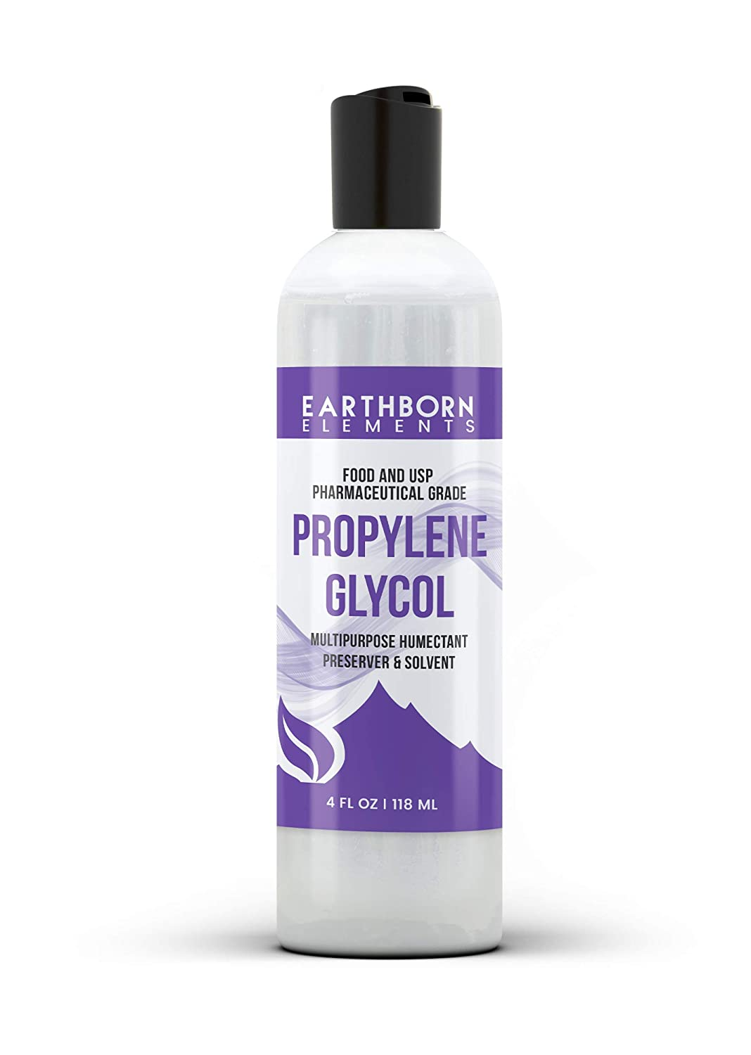 Propylene Glycol (4 oz.) by Earthborn Elements, 100% Pure, Food & Pharmaceutical Grade, Hypoallergenic Moisturizer & Skin Cleanser