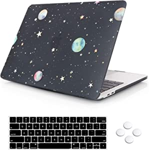 MacBook Pro 13 Case 2019 2018 2017 Release A2159/A1989/A1708/A1706, DQQH Rubberized Plastic Hard Shell Cover with Keyboard Cover for Apple New Mac Pro 13 inch with/Without Touch Bar/ID-Starry Night