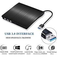 External DVD Drives, USB 3.0 Portable DVD Burner, Super Slim External Optical Drive, CD/DVD-RW Writer Player
