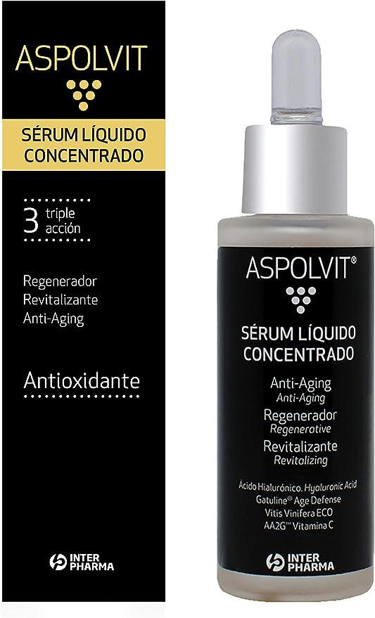 Aspolvit – Serum Facial Mujer Vitamina C – Serum Ácido Hialurónico y Vitamina E – Serum Hidratante Antiedad y Antioxidante – Envase con gotero - 30 ml