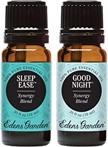 Edens Garden Good Night & Sleep Ease Essential Oil Synergy Blend, 100% Pure Therapeutic Grade (Highest Quality Aromatherapy Oils), 10 ml Value Pack