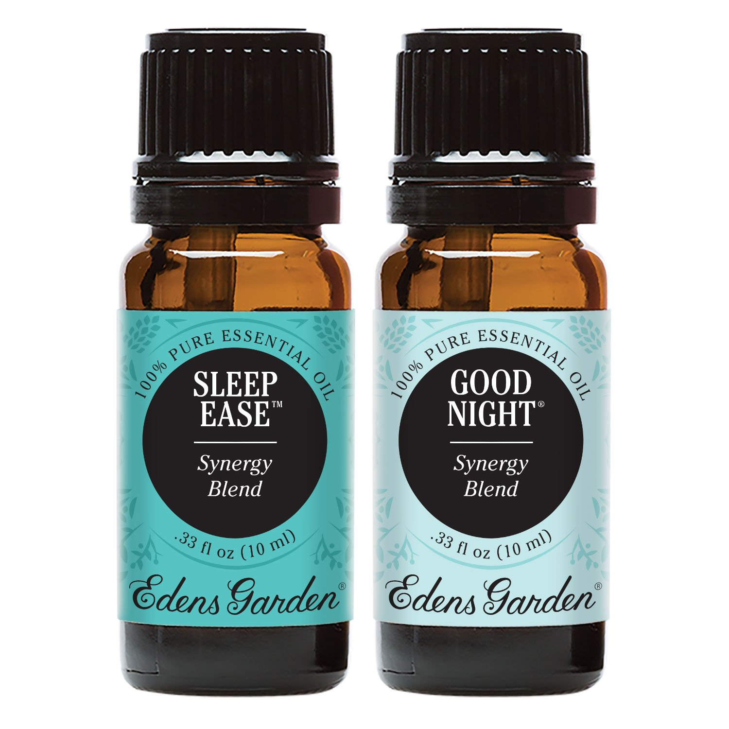 Edens Garden Good Night & Sleep Ease Essential Oil Synergy Blend, 100% Pure Therapeutic Grade (Highest Quality Aromatherapy Oils), 10 ml Value Pack by Edens Garden
