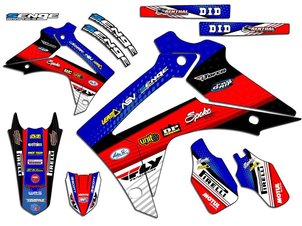 Senge Graphics 2003-2013 Honda CR 85 Riccochet Blue Graphics kit Senge Graphics Inc. COMINU031381