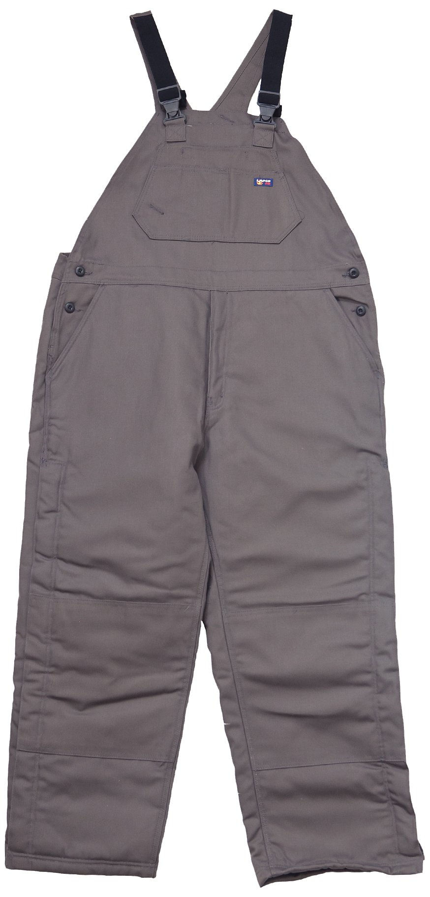 LAPCO BIFRGYDK-2XL TL 12-Ounce Duck Flame Resistant Insulated Bib Overall, Grey