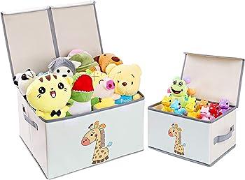 DIMJ Large Kids Toy Decorative Toy Organizers Fabric Storage Bins