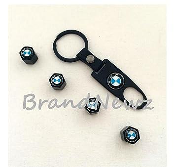 BMW coche rueda neumático válvula de polvo Caps cubre llaves llavero - Juego de 4: Amazon.es: Coche y moto