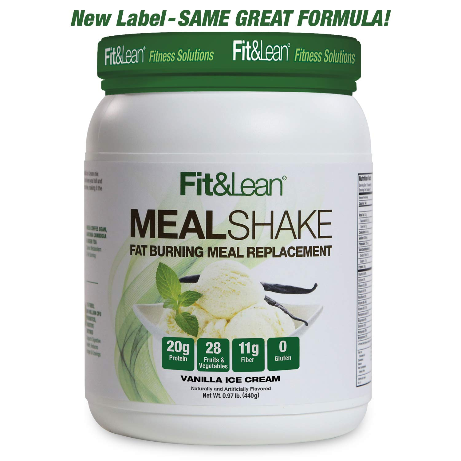 Fit & Lean Fat Burning Meal Replacement, Vanilla, 0.97 lb by Fit & Lean