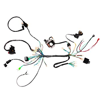 Amazon Com Tdpro Wiring Harness Cdi Coil Magneto Rectifier Light