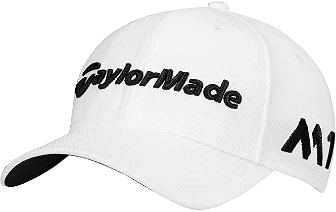9bca4f08c7c Amazon.com   TaylorMade 2017 New Era Tour Authentic 39Thirty Stretch Hat  Structured Mens Golf Cap   Sports   Outdoors